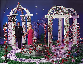 Decorate with natural beauty with a garden themed prom for How can prom venues be decorated