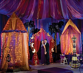 Treasure the night with an arabian themed prom prom for Arabian night decoration