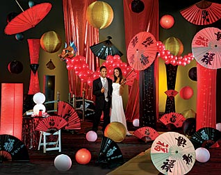 Travel to the far east with a one world theme prom prom for Asian party decoration
