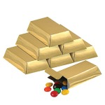 Foil Gold Bar favor boxes