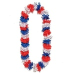 This Americana Lei makes for great Memorial Day Party favors!